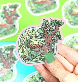 Turtle Soup Turtle Soup Tree Frog Terrarium Vinyl Sticker