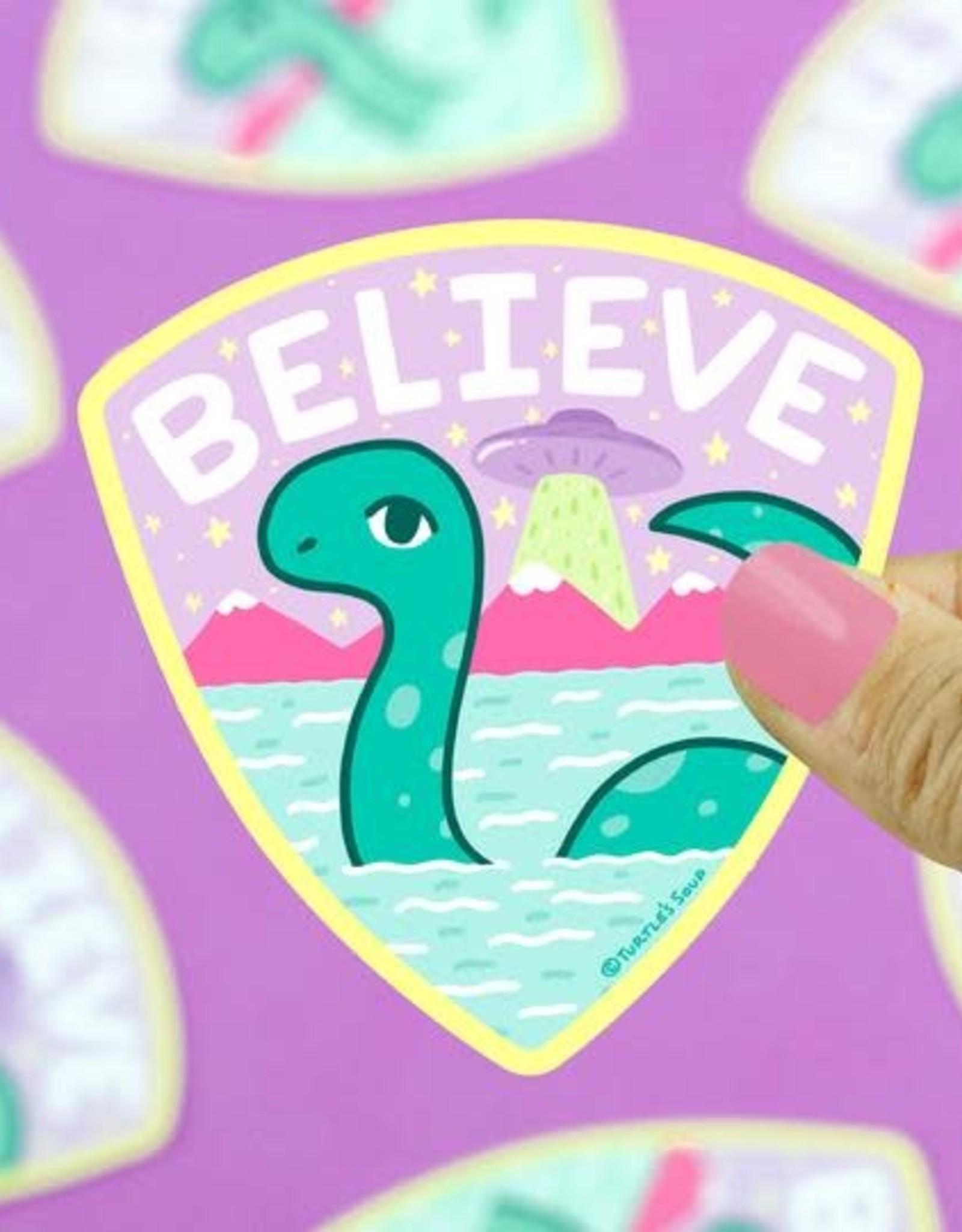 Turtle Soup Turtle Soup Believe in Loch Ness Vinyl Sticker