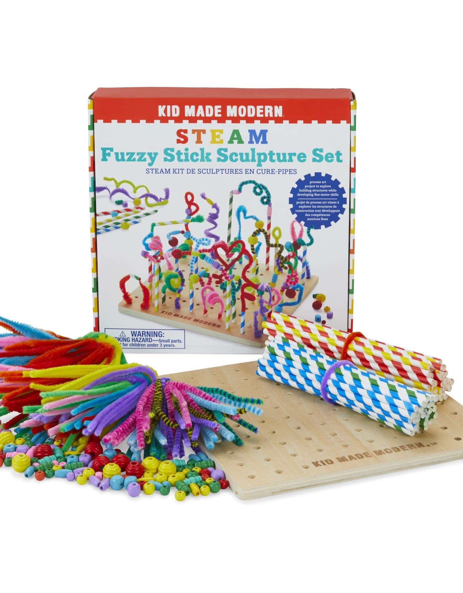 Kid Made Modern STEAM Fuzzy Stick Sculpture Set