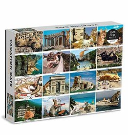 Galison 1500pc Vacation Cats