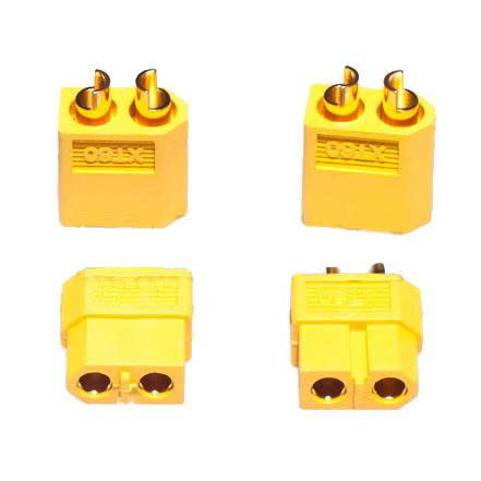 XT60 Connectors Yellow 2 Pairs