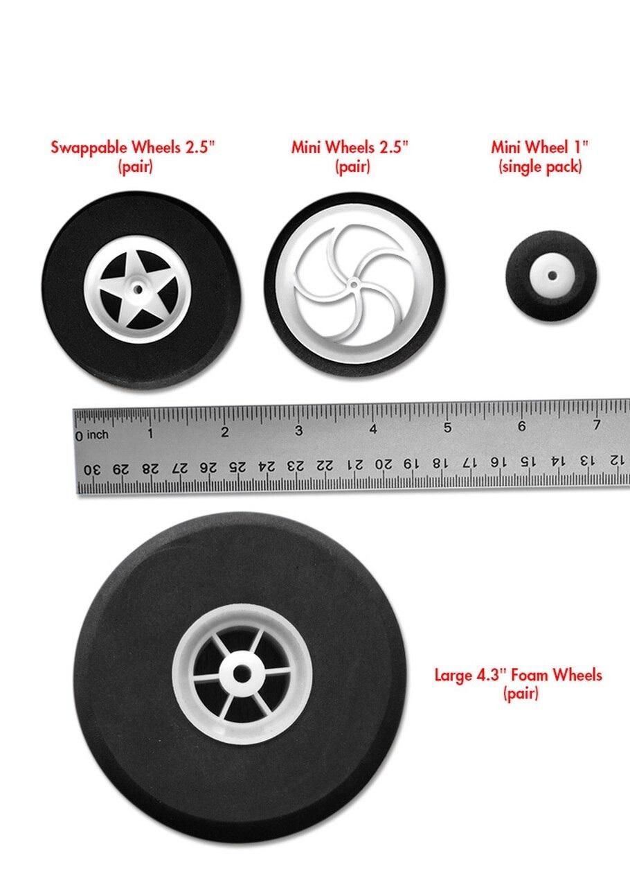 "Flite Test Flite Test Mini Wheels 2.4"" (pair)"