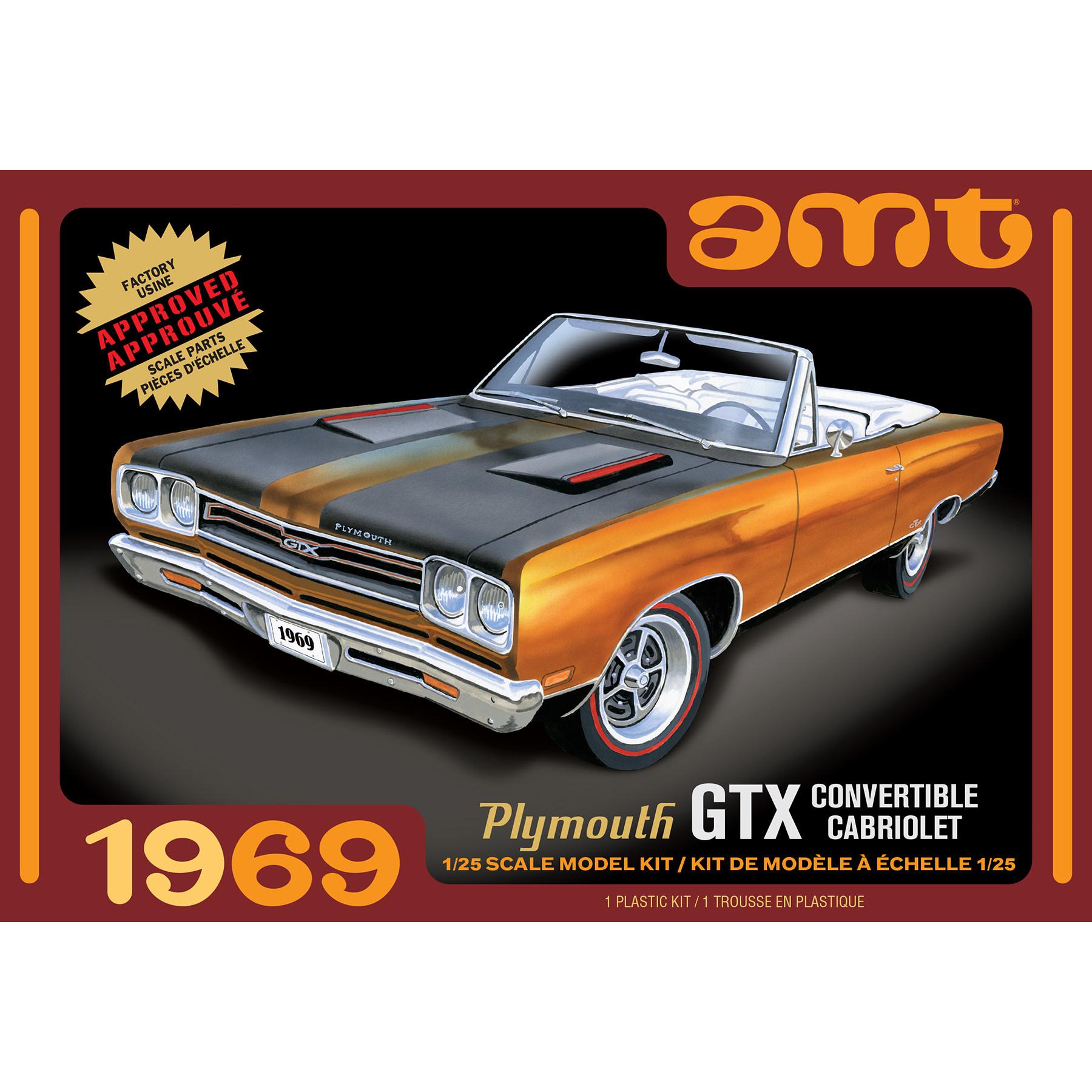 1/25 1969 Plymouth GTX Convertible Car