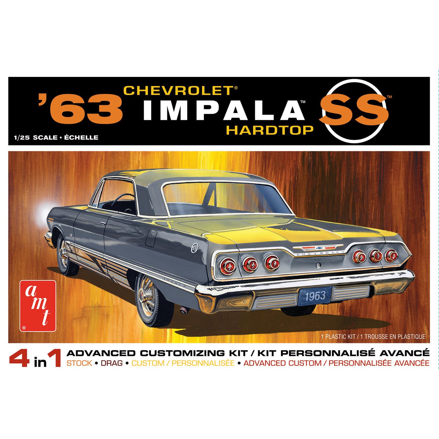 1/25 1963 Chevy Impala SS 4-in-1