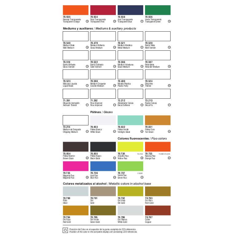 VLJ Vallejo Model Color(1-100)
