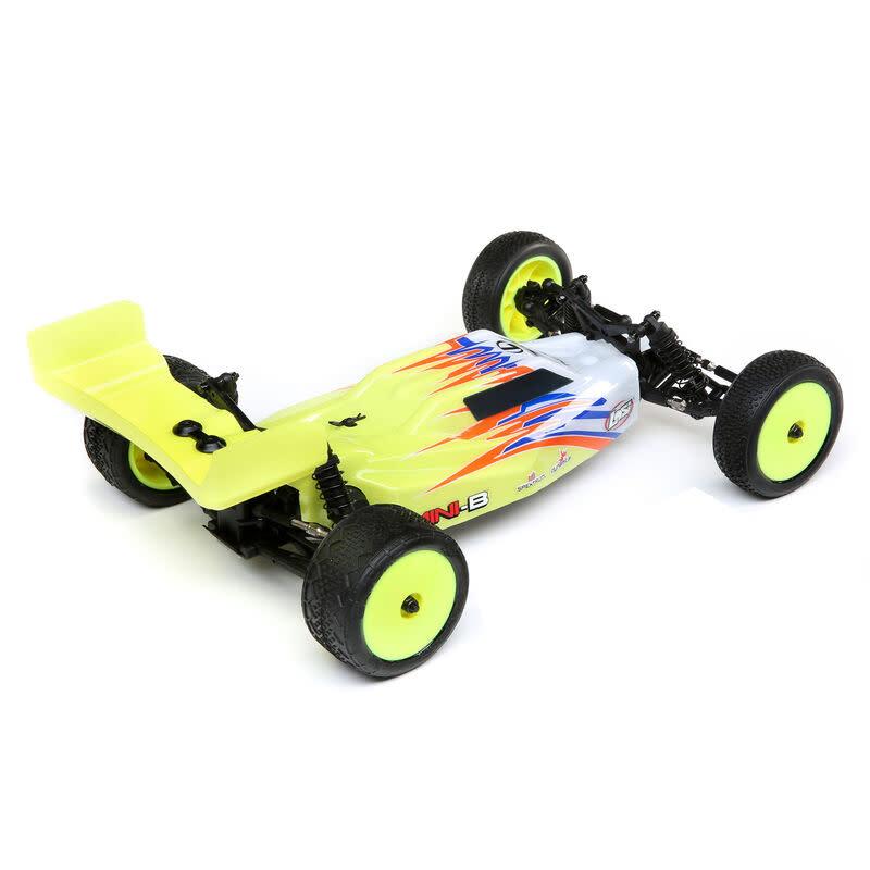 Mini-B, Brushed, RTR: 1/16 2WD Buggy, Yellow/White