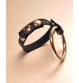IGNITE LEATHER STRAP ENGLISH CAGE COCK RING