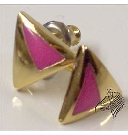PINK & GOLD TRIANGLE EARRINGS