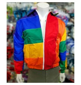 QUILTED RAINBOW FLAG JACKET, X-Large