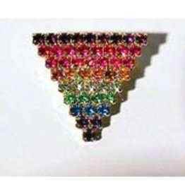 JEWELRY BY PONCE TRIANGLE RHINESTONE PRIDE PIN