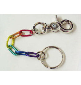 RAINBOW LINKS W/SNAP KEYCHAIN