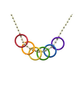 LARGE RAINBOW RINGS NECKLACE