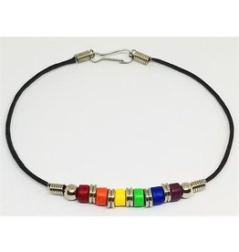 RAINBOW CERAMIC BEAD ANKLET