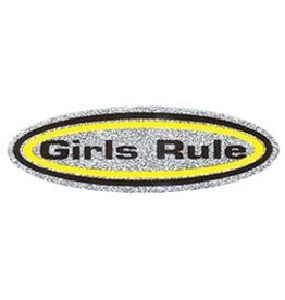 REFLECTIVE GIRLS RULE STICKER