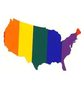 Rainbow USA Sticker
