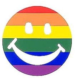 RAINBOW SMILEY FACE STICKER