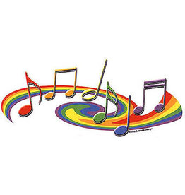 PRIDE MUSICAL NOTES STICKER