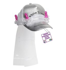 Doc Johnson WHITE TRASH BACHELORETTE TRUCKER HAT W/ VEIL