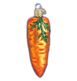 GLASS CARROT XMAS ORNAMENT