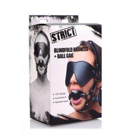 STRICT STRICT BLINDFOLD HARNESS PLUS GAG