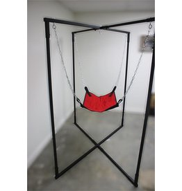 SWING STAND W/ SWING BLK/RED CANVAS S