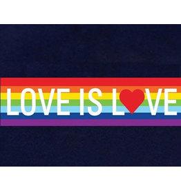 LOVE IS LOVE RAINBOW STICKER