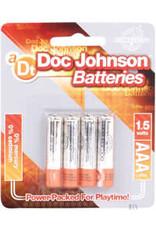 Doc Johnson AAA BATTERIES 4 PK