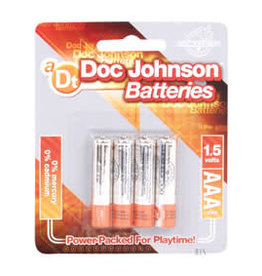 Doc Johnson AAA BATTERIES 4 PK