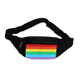 RAINBOW FANNY PACK-RAIN HORIZONTAL CANVAS