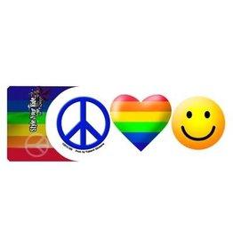 STICKER- PEACE LOVE HAPPINESS