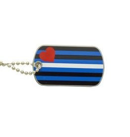 RAINBOW NECKLACE-LEATHER PRIDE ID TAG