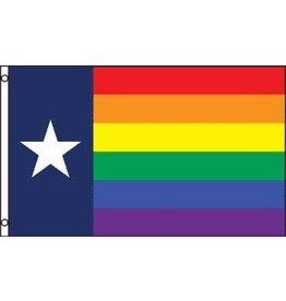 RAINBOW TEXAS LONESTAR PRIDE 3'x5' FLAG