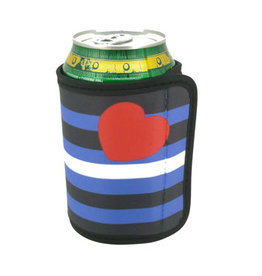 RAINBOW COOZIE/COOZY-LEATHER PRIDE CAN WRAP