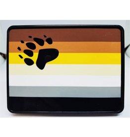 RAINBOW HITCH COVER- BEAR FLAG