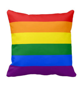 "PILLOW-RAINBOW 14"" X 14"""