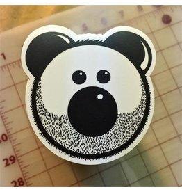 STICKER- BEARDY BEAR