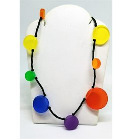 ACRYLIC DISKS NECKLACE