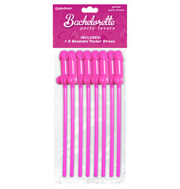 PIPEDREAM PRODUCTS STRAW, BACHELORETTE PECKER 6 PC,PINK