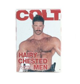 CAL EXOTICS PLAYING CARDS, COLT, HAIRY CHESTED ME