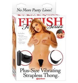FETISH FANTASY FF VIBE STRAPLESS THONG, PLUS SIZE