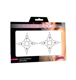 PEEKABOOS PASTIES-PEEKABOOS,CRYSTAL 4 POINT,PNK/D