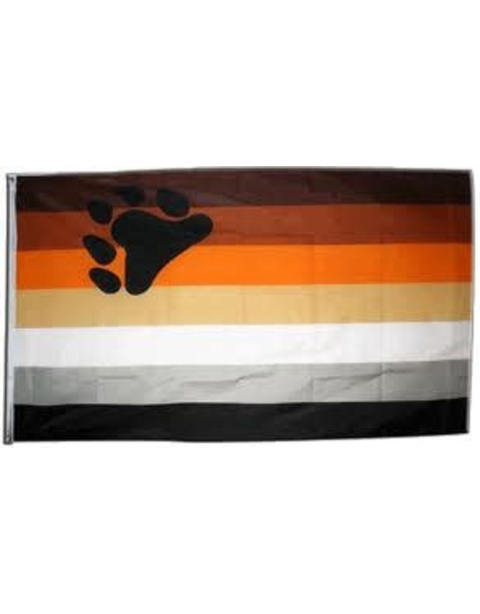 RAINBOW NYLON BEAR PRIDE FLAG