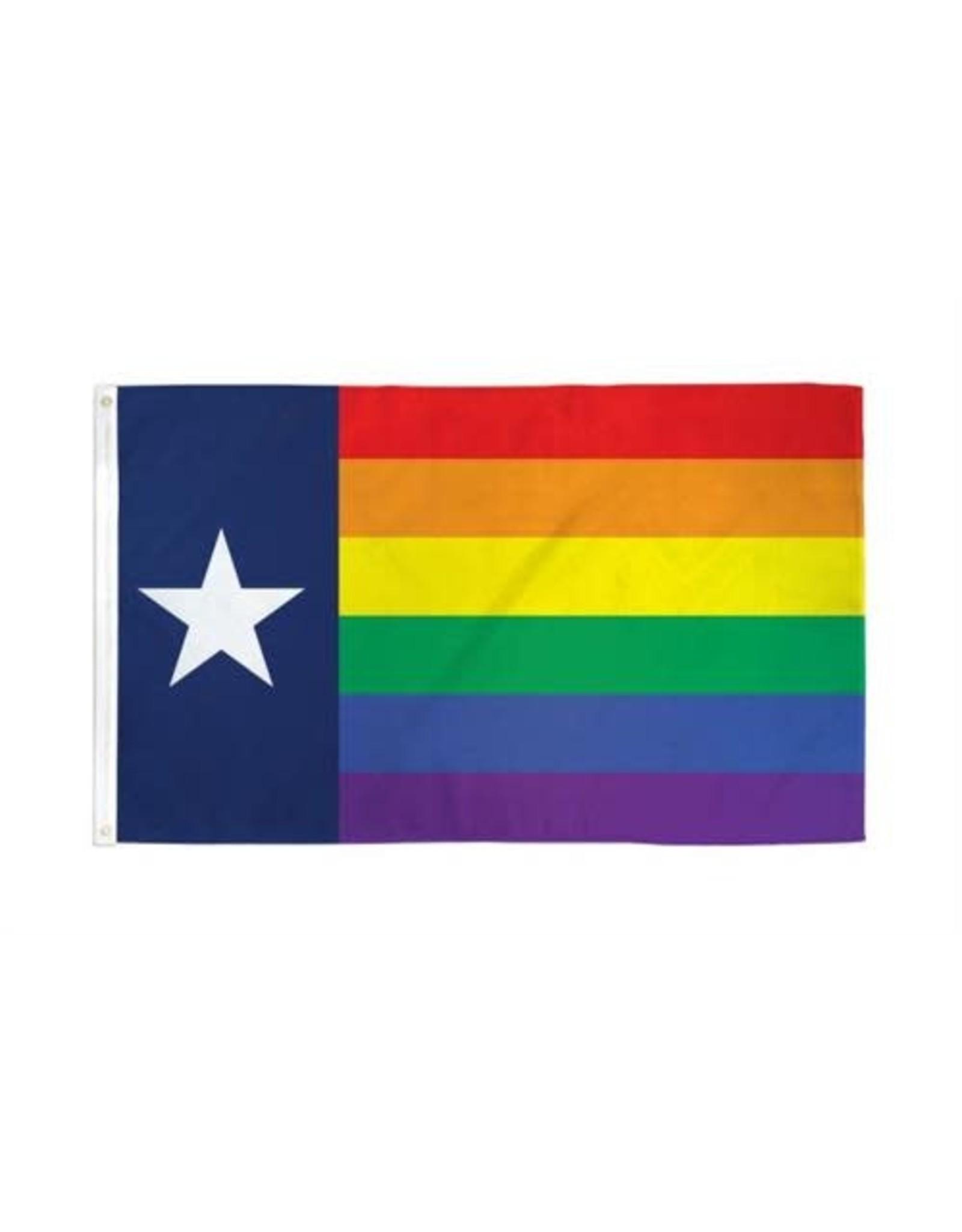 RAINBOW RAINBOW NYLON TEXAS 3'x5' FLAG