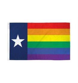 RAINBOW FLAG-RAIN. NYLON TEXAS 3'x5'