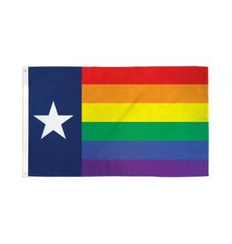 RAINBOW RAINBOW NYLON TEXAS 3'x5' FLAG