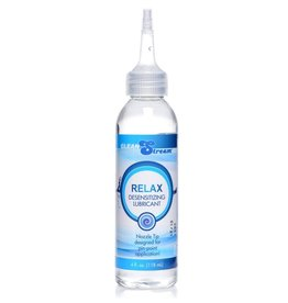 XR Brands Clean Stream Relax Desensitizing Anal Lubricant With Nozzle Tip 4oz