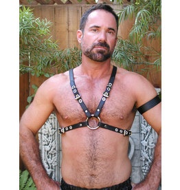 LEATHERMASTR HARNESS, HALF NARROW BUCKLE