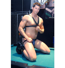 LEATHERMASTR HARNESS-LEATHER HALF-BODY 1.25""