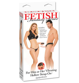 PIPEDREAM PRODUCTS FF VIBE HOLLOW STRAP ON,FLESH