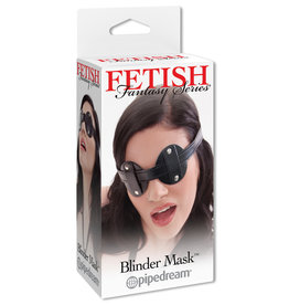 FETISH FANTASY BLINDFOLD, FF, VINYL BLINDER MASK BLK